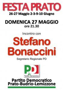 festa pd Prato Bonaccini
